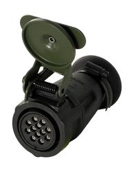 12 Kontak 24 V Kablo Tip Dişi Konnektör (Nato: 5935-12-302-6122)