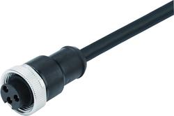 Dişi Kablolu Tip 3 Kontaklı Konnektör