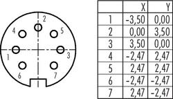 Dişi Açılı Kablo Tip 7 Kontaklı Konnektör - Thumbnail