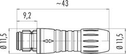Dişi Kablo Tip 3 Kontaklı Konnektör - Thumbnail