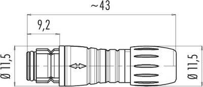 Dişi Kablo Tip 3 Kontaklı Konnektör