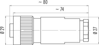 Dişi Kablo Tip 7 Kontaklı Konnektör