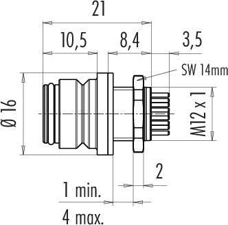 Dişi Panel Tip 5 Kontaklı Konnektör